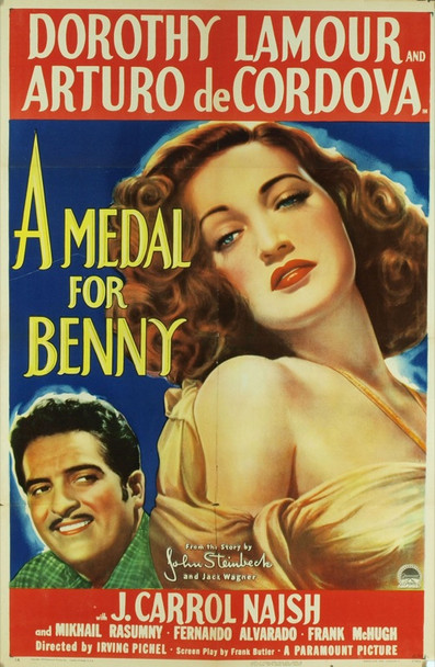 MEDAL FOR BENNY, A (1945) 5761 Original Paramount Pictures One Sheet Poster (27x41). Folded. Fine Plus Condition.