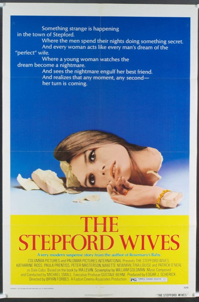 STEPFORD WIVES, THE (1975) 5899 Original Columbia Pictures One Sheet Poster (27x41). Folded. Fine Condition.