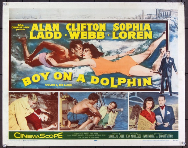 BOY ON A DOLPHIN (1957) 22733 Original 20th Century-Fox Half Sheet Poster (22x28).  Unfolded.  Fine Plus.