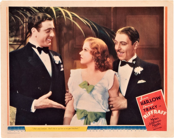 RIFFRAFF (1936) 20022 Original MGM Scene Lobby Card (11x14).  Fine Condition.