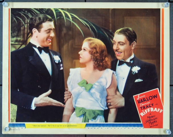 RIFFRAFF (1936) 22793 Original MGM Scene Lobby Card (11x14).  Very Fine Condition.