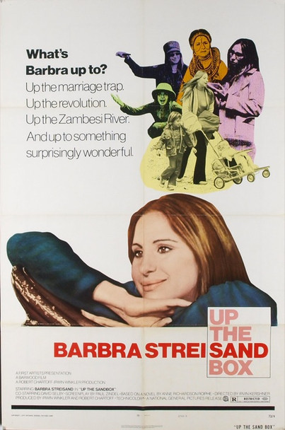 UP THE SANDBOX (1973) 6501 Original National General Pictures Style B One Sheet Poster (27x41).  Folded.  Very fine condition.