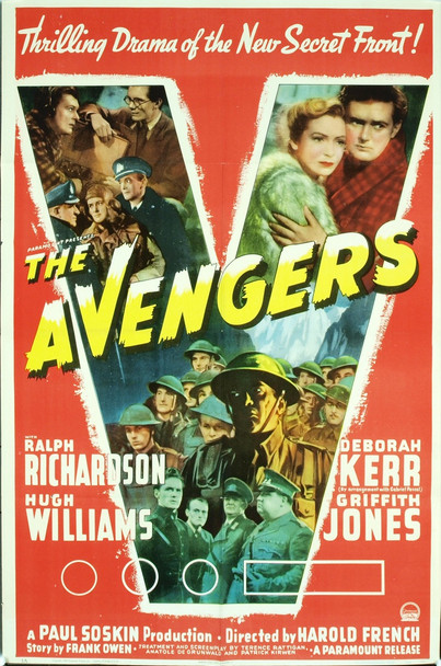 AVENGERS, THE (1942) 6531 Original Paramount Pictures Style A One Sheet Poster (27x41).  Very fine condition, unbacked.