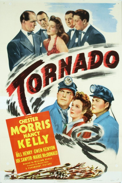 TORNADO (1943) 6534 Original Paramount Pictures Style A One Sheet Poster (27x41).  Fine condition.