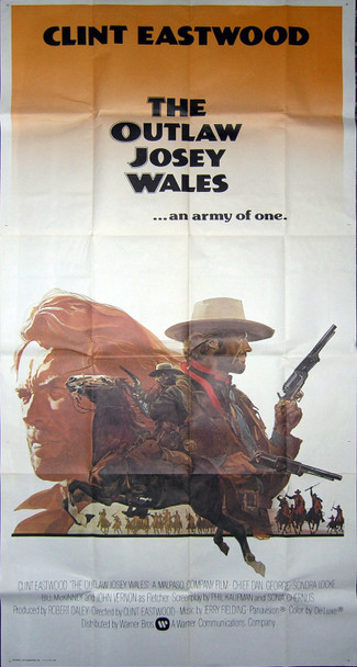 OUTLAW JOSEY WALES, THE (1976) 6541 Original Warner Brothers Three Sheet Poster (41x81). One-piece International poster. Very Fine, Folded.