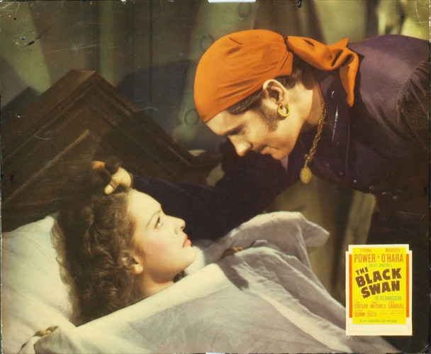 BLACK SWAN, THE (1942) 7054 Original 20th Century-Fox Jumbo Lobby Card (14x18). Very Good Plus Condition.