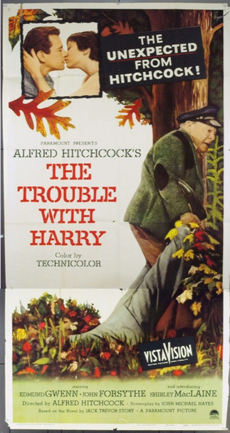 TROUBLE WITH HARRY, THE (1955) 7057 Original Three Sheet Poster (41x81).  Folded.  Very Good.