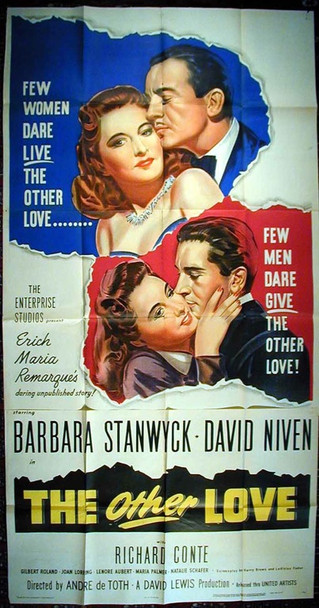 OTHER LOVE, THE (1947) 8071 United Artists Three Sheet Poster. 41x81. Folded.  Not assembled.  Fine.