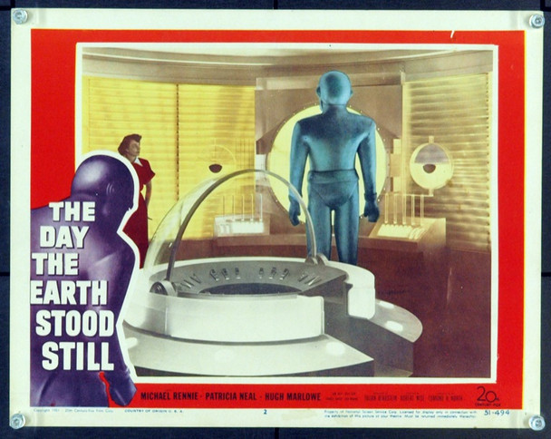 DAY THE EARTH STOOD STILL, THE (1951) 8076 Original 20th Century-Fox Scene Lobby Card (11x14). Card No. 2. Very Fine.