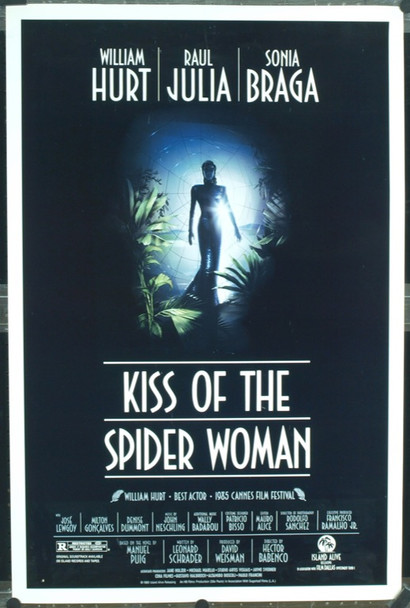KISS OF THE SPIDER WOMAN (1986) 8209 Original Island Alive One Sheet Poster (27x41). Rolled. Very Fine Condition.