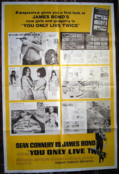 YOU ONLY LIVE TWICE (1967) 8427 Original Special Esquire Magazine Promotional Poster (40x60). Folded.  Fine plus condition.