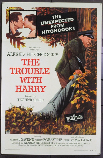 TROUBLE WITH HARRY, THE (1955) 8633 Original Paramount Pictures One Sheet Poster (27x41). Folded. Very Fine.