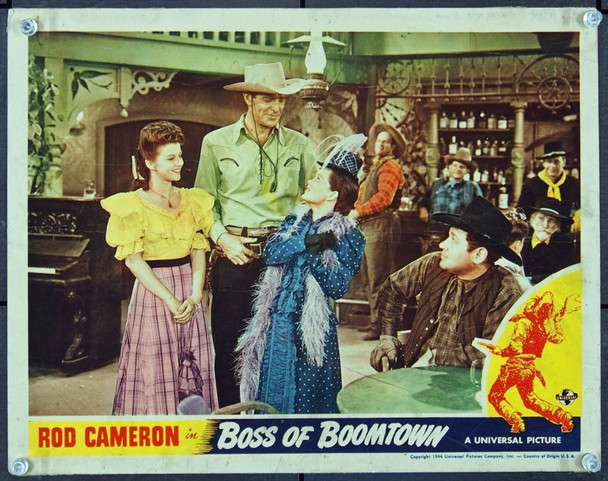 BOSS OF BOOMTOWN (1944) 8842 Universal PIctures Scene Card (11x14) Very Good