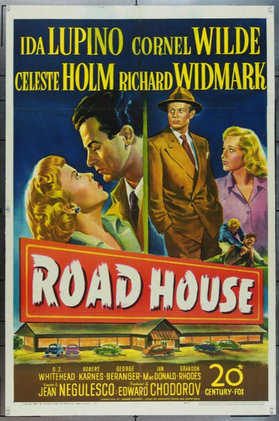 ROAD HOUSE (1948) 8740 Original 20th Century-Fox One Sheet Poster (27x41). Linen-Backed. Good Condition.