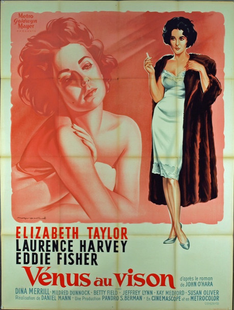 BUTTERFIELD 8 (1960) 9631 BUTTERFIELD 8 Original French Grande Poster (47x63). Stone Lithograph. Roger Soubie Artwork. Very Fine Condition.