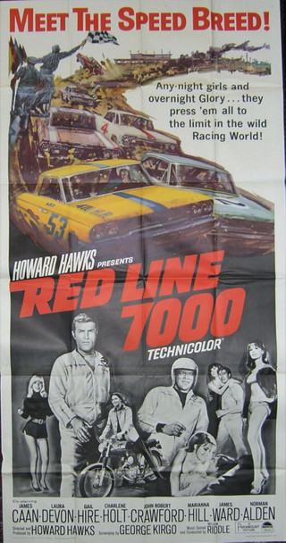 RED LINE 7000 (1965) 9680 Original Paramount Pictures Three Sheet Poster (41x81). Very fine condition.