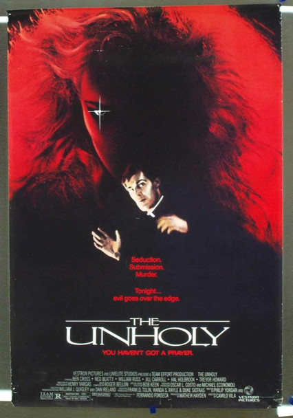 UNHOLY, THE (1987) 10606 Original Vestron Pictures One Sheet Poster (27x41).  Very Good Condition.