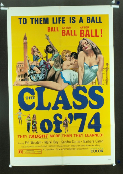 CLASS OF '74, THE (1971) 10629 Original General Film Corp One Sheet Poster (27x41). Folded. Fine Plus Condition.