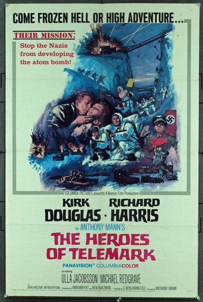 HEROES OF TELEMARK, THE (1966) 11286 Original Columbia Pictures One Sheet Poster (27x41). Folded. Very good condition.