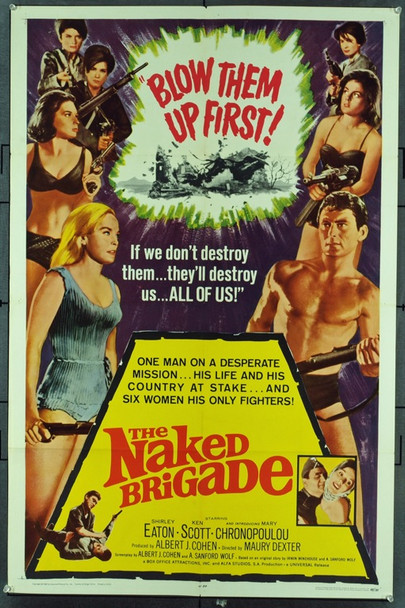 NAKED BRIGADE, THE (1965) 11288 Original Universal Pictures One Sheet Poster (27x41). Folded. Very fine condition.