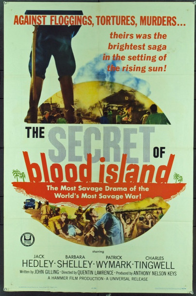 SECRET OF BLOOD ISLAND, THE (1965) 11289 Original Universal Pictures One Sheet Poster (27x41).  Folded.  Very fine condition.