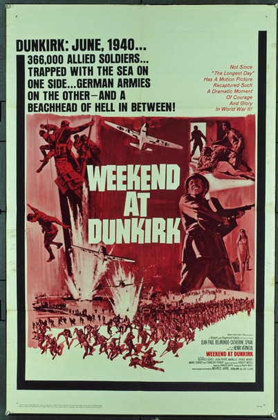 WEEKEND AT DUNKIRK (1965) 11290 WEEKEND AT DUNKIRK (1964) Original 20th Century-Fox One Sheet Poster (27x41).  Folded.  Very fine condition.