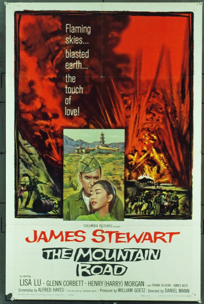 MOUNTAIN ROAD, THE (1960) 11294 Original Columbia Pictures One Sheet Poster (27x41). Folded. Very good condition.