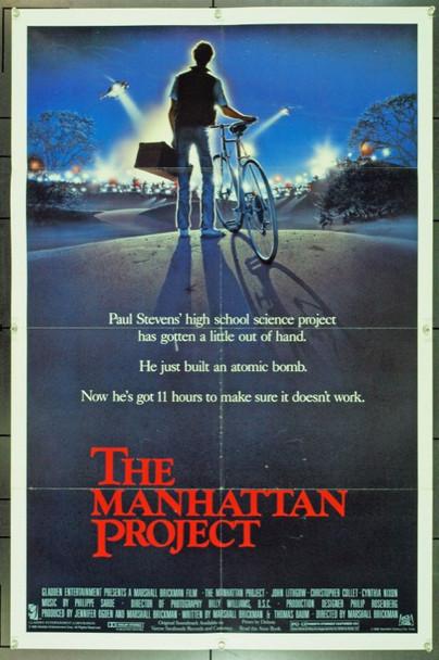 MANHATTAN PROJECT, THE (1986) 11680 20th Century Fox Original U.S. One-Sheet  (27x41) Folded  Very Good Plus
