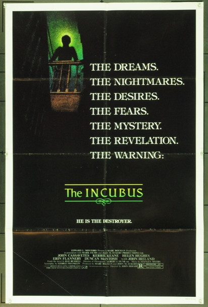 INCUBUS (1981) 12133 Original Artists Releasing Corporation One Sheet Poster (27x41). Folded. Very Good.