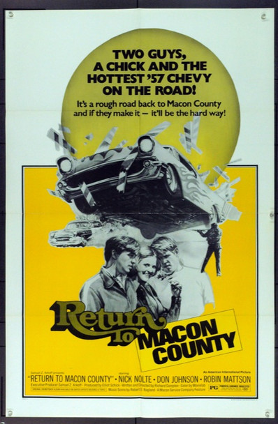 RETURN TO MACON COUNTY (1975) 12134 Original American International Pictures One Sheet Poster (27x41). Folded. Very Fine.