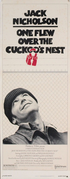 ONE FLEW OVER THE CUCKOO'S NEST (1975) 12202 Original insert poster (14x36). 1975.  Very good Condition  Theater-Used