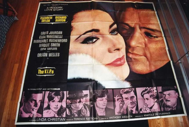 V.I.P.S, THE (1963) 13614 Original MGM Six Sheet Poster (81x81). Folded. Very Fine Plus.