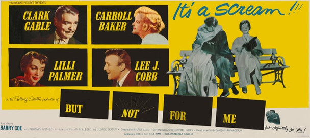 """BUT NOT FOR ME (1959) 14202 Original Paramount Pictures Twenty Four Sheet Poster (9 ft x 20 ft) on 16 panels. Image """"assembled"""" using photo software. Very Good Condition."""
