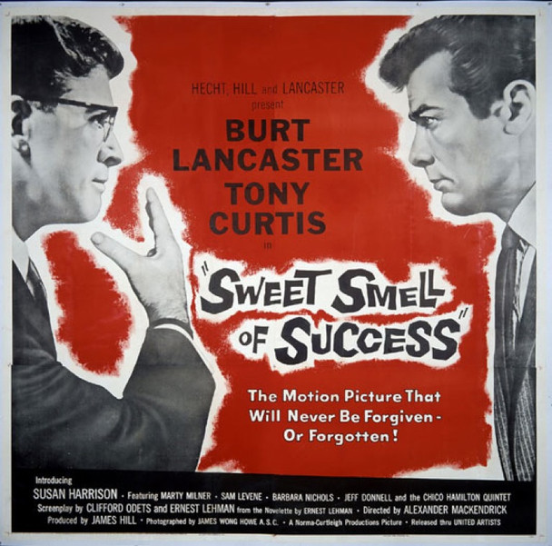 SWEET SMELL OF SUCCESS (1957) 14935 Original United Artists Six Sheet Poster (81x81). Linen-Backed. Very Fine Condition.