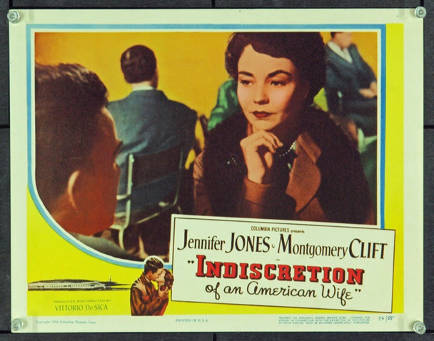 INDISCRETION OF AN AMERICAN WIFE [STAZION TERMINI] (1953) 14998 Original Columbia Pictures Scene Lobby Card (11x14). Very Fine Plus.
