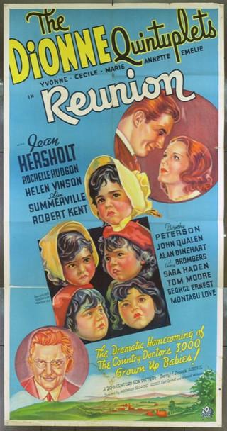 REUNION (1936) 15205 REUNION U.S. 20th Century Fox Three Sheet. Unbacked. Fine Plus.