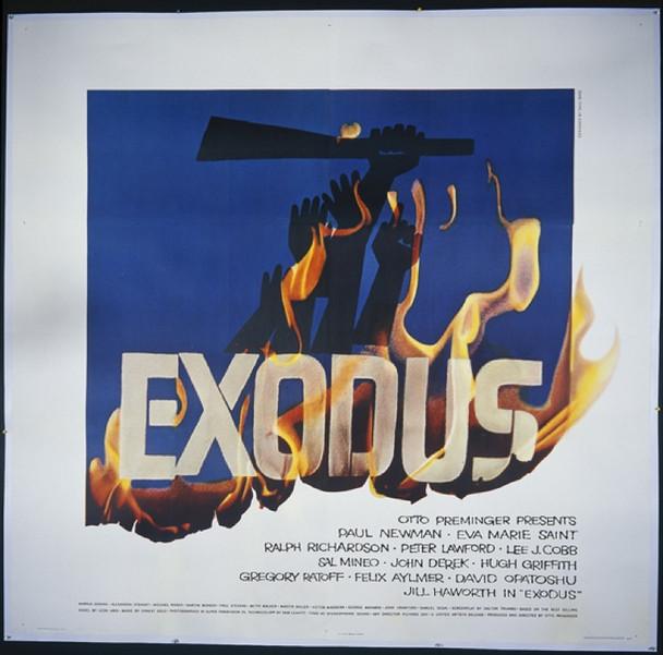 EXODUS (1961) 15410 Original United Artists Six Sheet Poster (81x81).  Saul Bass Art.  Linen-Backed.  Very Good Condition.