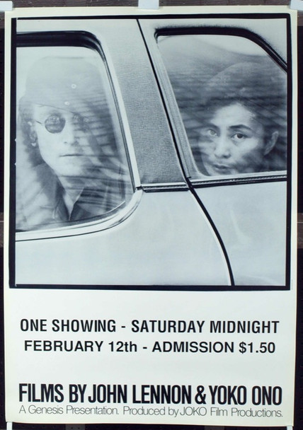 FILMS OF JOHN LENNON AND YOKO ONO (1971) 15539 Original JOKO Film Productions One Sheet Poster (27x39). Near Mint Condition.