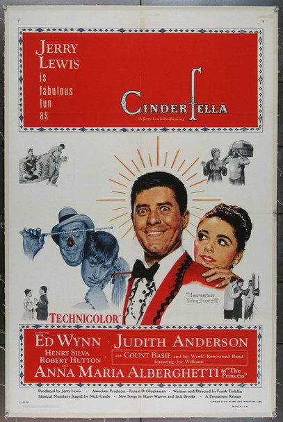 CINDERFELLA (1960) 14036 Original Paramount Pictures One Sheet Poster (27x41).  Norman Rockwell Art.  Linen-Backed.  Near Mint.
