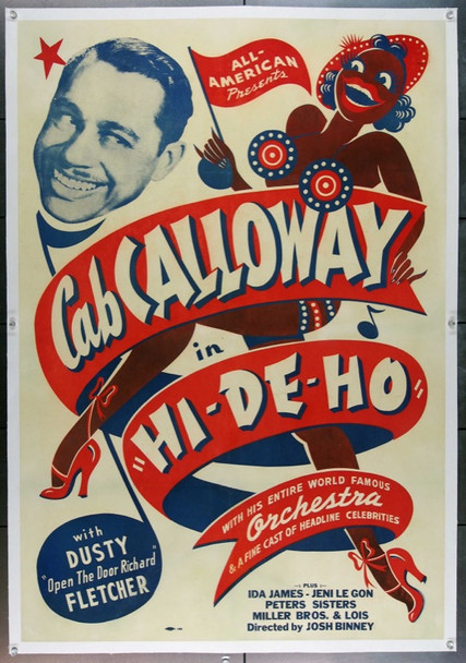HI-DE-HO (1947) 15160 HI-DE-HO Original All-American One Sheet Poster (27x41). Linen-Backed. Very Fine Condition.
