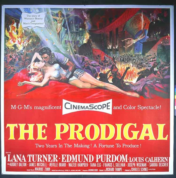 PRODIGAL, THE (1955) 15626 Original MGM Six Sheet Poster (81x81).  Near Mint Condition.
