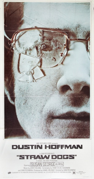 STRAW DOGS (1972) 15706 Original ABC Pictures Three Sheet Poster (41x81).  Folded.  Very fine plus condition.
