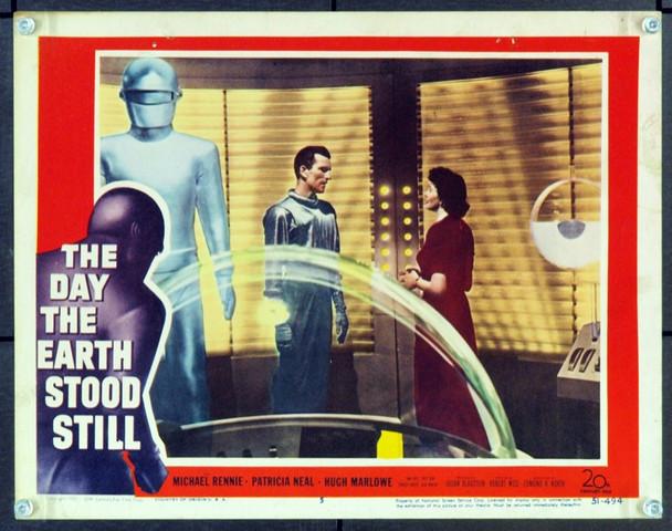 DAY THE EARTH STOOD STILL, THE (1951) 15943 Original 20th Century-Fox Scene Lobby Card (11x14). Card No. 5. Very Fine.