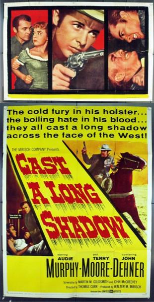 CAST A LONG SHADOW (1958) 15978 U.S. Three Sheet Poster. 41x81. Good.