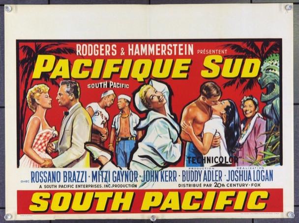 SOUTH PACIFIC (1958) 17092 Original Belgian Poster (13x21) Fine.