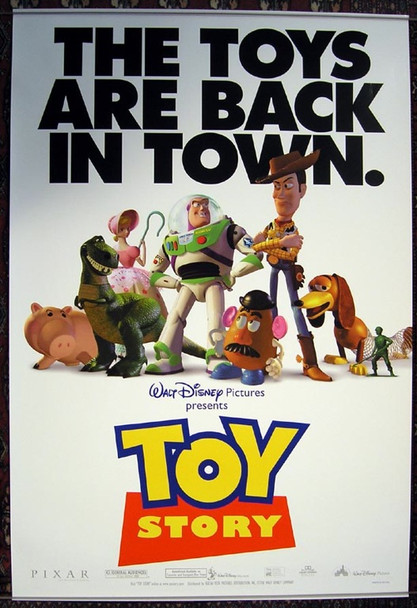 TOY STORY (1995) 19767 Original Walt Disney Productions Style B One Sheet Poster (27x41). Rolled.  Double-Sided. Near Mint Condition.
