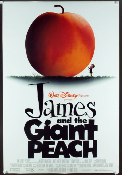 JAMES AND THE GIANT PEACH (1995) 19768 Original Walt Disney Productions One Sheet Poster (27x41).  Rolled.  Double-sided. Very Fine Plus Condition.