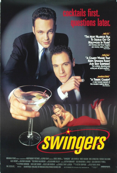 SWINGERS (1996) 19769 Original Miramax Films Style B One Sheet Poster (27x41).  Rolled.  Double-sided.  Very Fine Plus Condition.
