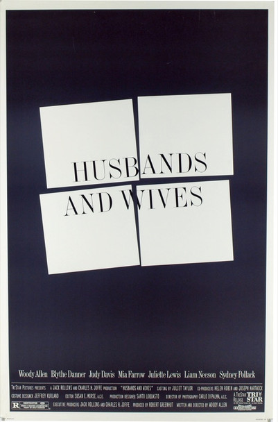 HUSBANDS AND WIVES (1992) 19803 Original TriStar Pictures One Sheet Poster (27x41). Rolled. Double-Sided. Fine Plus Condition.