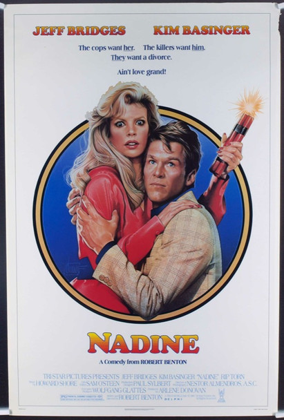 NADINE (1987) 19804 Original TriStar Pictures One Sheet Poster (27x41). Rolled.  Very Fine Condition.